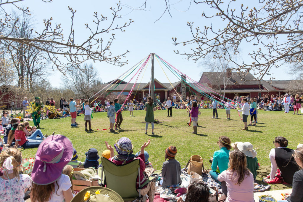 May Day May pole ceremony